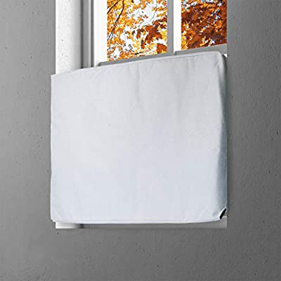 Kraftex Indoor Air Conditioner Cover (White) - Window Air Conditioner Cover for Inside Wall Unit with Double Insulation - Winter AC Cover – AC Covers for Inside Units (L 28in x H 20in x D 3.5in)