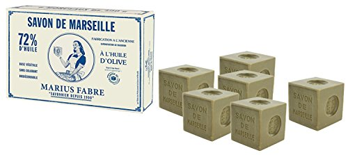 Marius Fabre Marseiller Seife, 72% Olivenöl, Schachtel mit 6x 400g
