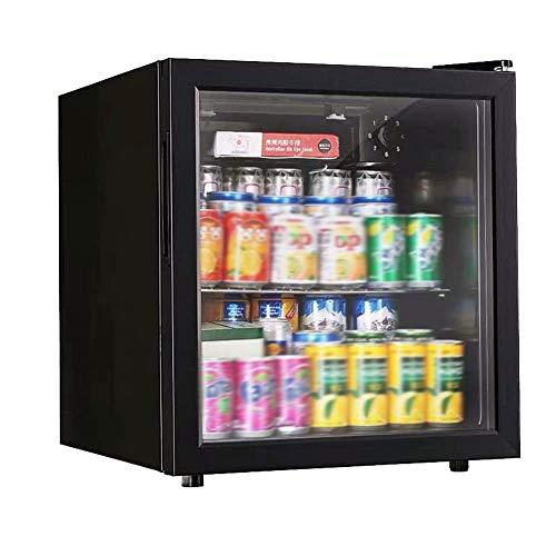 Refrigeradores de bebidas Refrigerador y refrigerador de bebidas enlatadas 50L, refrigerador, mini refrigerador para hogar, oficina o bar con puertas de vidrio y estantes extraíbles ajustables jianyou