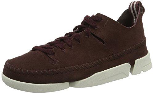 Clarks Damen Trigenic Flex. Sneakers, Rot (Burgundy), 37.5 EU