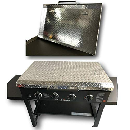 "Updated and Improved Made in USA 36 Inch Blackstone Griddle Cover Lid, Diamond Plate Aluminum Lid Storage Cover for 36"" Blackstone Griddle - Made in USA"