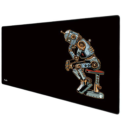 Anpollo-muismat XL (900x400x3mm) Multifunctionele gaming-muismat XXL groot bureaukussen Antislip textuuroppervlak voor computer Kantoor Gamer Map World