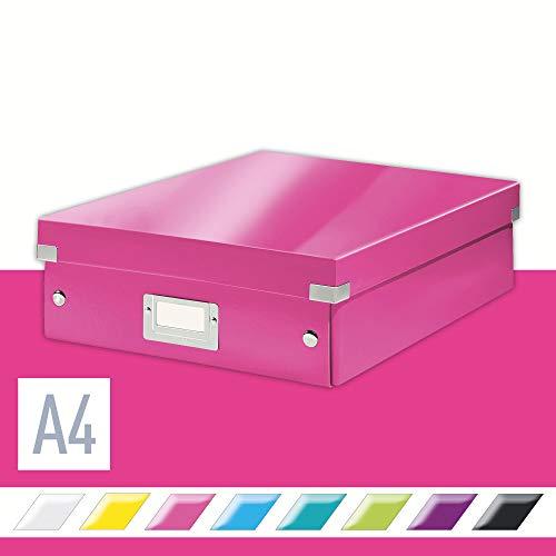Leitz, Mittelgroße Organisationsbox, Pink, Click & Store, 60580023