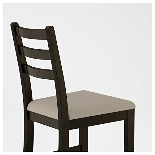 LERHAMN Tavolo e 2 sedie, marrone-nero, beige Vittaryd, 74x74 cm resistente e di facile...