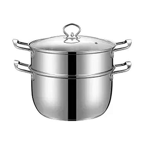 Olla de sopa Acero inoxidable sopa de olla al vapor crisol de la sopa olla pequeña Hot Pot Inicio Binaural sartén Gas leche Olla cocina de inducción utensilios de cocina especial utensilios de cocina
