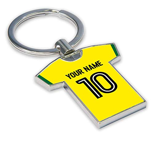 Personalised Norwich City Football Soccer T-Shirt Key Ring
