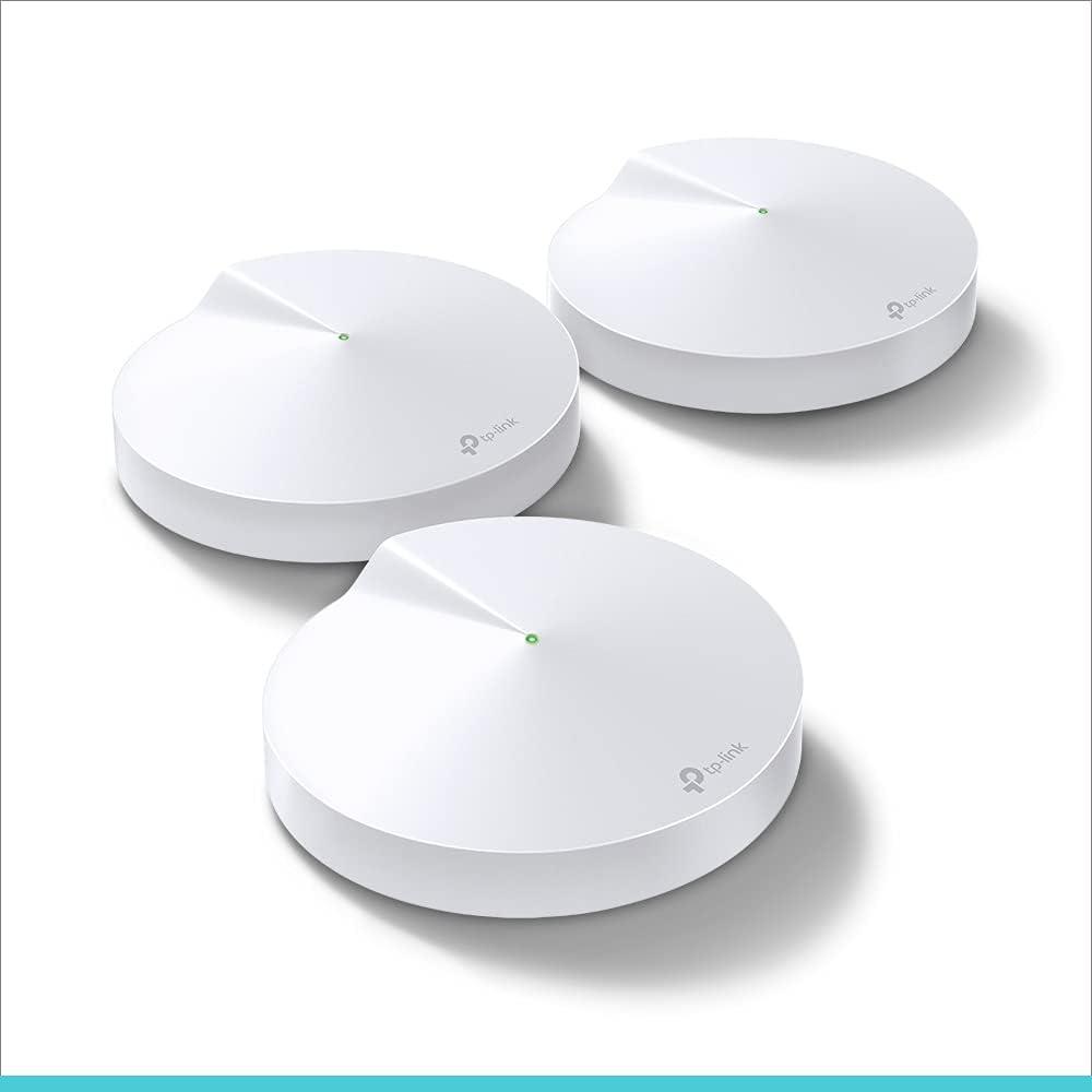 TP-LINK AC2200 Deco M9 Plus (3-pack) - Amplificador wifi Super Mesh inteligente sin interrupciones, Tri-band hasta 600m² Hub Smart IoT, Zigbee, 2 Gigabit, MU-MIMO