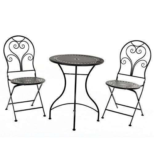 Hausmann Balkonset 2 sillones 1 mesa de hierro