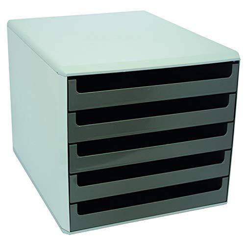 Metzger & Mendle 30050910 Schubladenbox mit 5 Schüben dunkelgrau