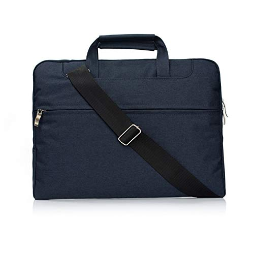 RZL PAD & TAB cases For Macbook Air Pro, Nylon Waterproof Women Men Laptop Bags Casual Sleeve Handbag Shoulder Notebook Bag Case for Macbook Air Pro 11 12 13 15 inch (Color : Navy, Size : 11 inch)