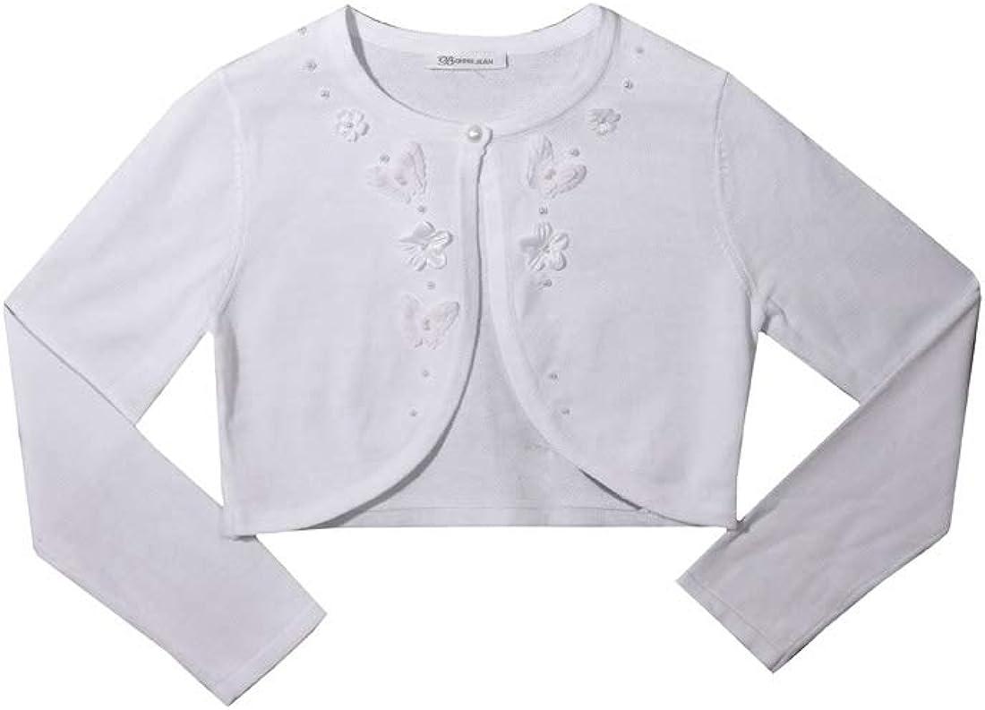 Bonnie Jean Girls White Cardigan Sweater