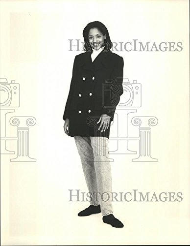 Vintage Photos 1995 Press Photo Fashion J.GHook Version of Traditional Navy Pea Coat