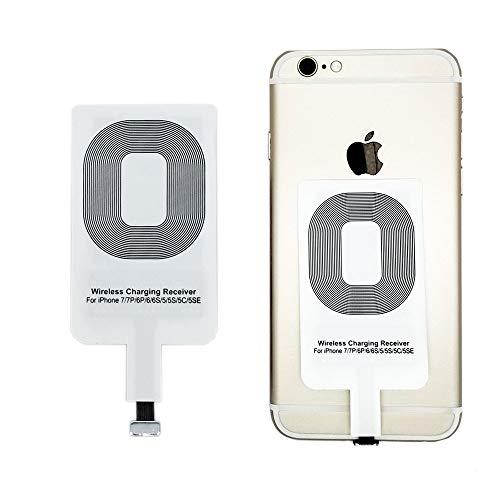 Sin marca Cargador Inalámbrico Qi Kabellos Ladegerät Receiver Empujador para iPhone 5 6 7