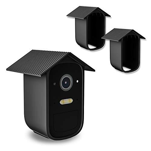 Wetterfeste Silikonhülle für eufyCam 2C / 2C Pro, 2 Stück Outdoor Home Security-Kamerasystem Überwachungskamera Silikonbezüge Haut - Wasserdichtes Silikon Kamera Schutz Schwarz