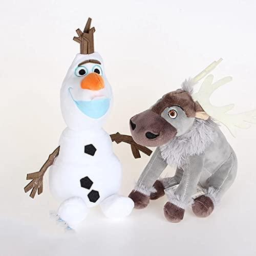 Huagdf Film Frozen Peluche, Olaf Sven Renna Morbido Peluche Bambole Cuscino per Dormire, Halloween Natale Regali di Compleanno per Bambini Bambini 2 pz/Lotto