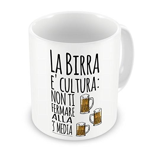 IMAGE Tazza Mug La Birra è Cultura - Divertenti