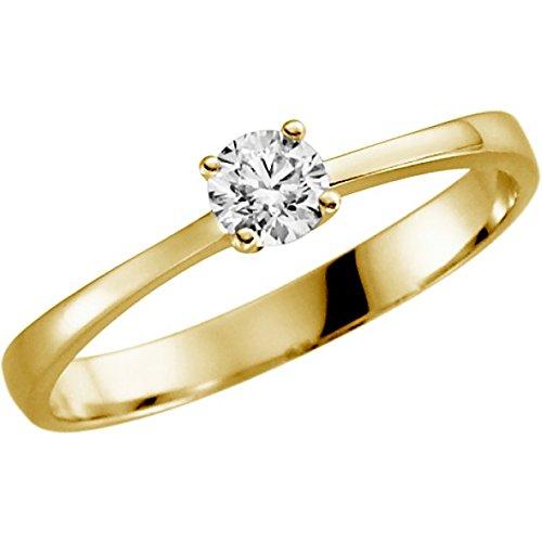 Verlovingsring met briljant 0,25 ct w/si in goud