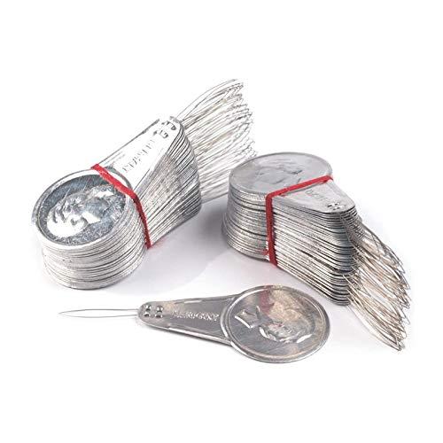 Guanici 200 Stück Einfädelhilfe Nähmaschine Einfädelhilfe für Nadeln Einfädelhilfe Nadelein Fädler Metall Einfädler Einfädler für Nähmaschine Einfädelvorrichtung für Nähmaschinen Kreuzstich DIY Nähen
