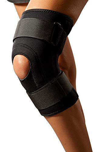Kniebandage LOREY-KN10029 aus 4mm dickem Neopren mit beidseitigem Nylonbesatz (XL)