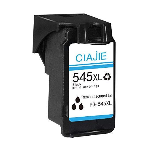 CIAJIE Compatible con cartuchos de tinta 545 546 XL PG545 CL546 para Pixma MG2550 TS3150 MX495 MG3050 TR4550 TS205 TS305 TR4551 iP2850 MG2450 MG2555S MG2950 MG3051 MG3053 (1 Negro)