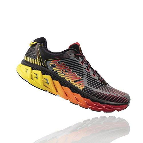 HOKA ONE ONE Mens Arahi Running Shoe (9.5 D(M) US, Black/Formula One)