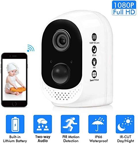 GSAGJyec Wireless-Kamera, Start Outdoor-Überwachungskamera mit Weitwinkel/Zwei-Wege-Audio/Nachtsicht/Plug-in-Free/Sport Recording/Remote