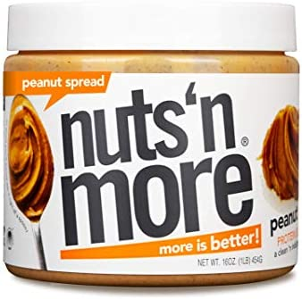 Nuts N More Original Peanut Butter Spread All Natural High Protein Nut Butter Healthy Snack product image