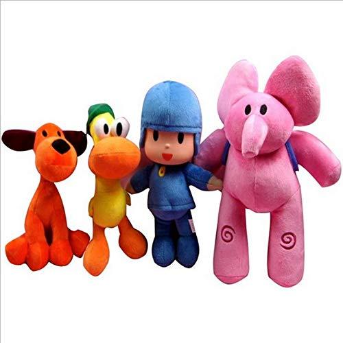 Pocoyo Plush 14cm-30cm Pocoyo Loula Elly Pato Doll Stuffed Animals Soft Figure Anime Collection Toy --4PC/Set