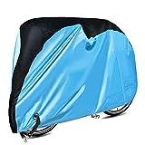 自転車カバー Oziral サイクルカバー 子供車用 防水 防犯 UVカット 破れにくい 飛ばない 24インチまで対応 収納袋付き Mサイズ ブルー