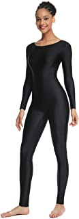 Women's Long Sleeve Unitard Dance Costume Spandex Full Body Suits