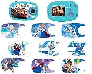 Lexibook DJ070FZ Disney Frozen Die Eiskönigin ELSA Digitalkamera 5MP, LCD Bildschirm, 10 Aufkleber, batteriebetrieben, blau/violett