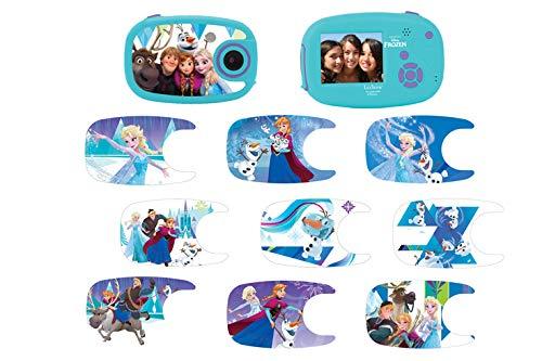 LEXIBOOK, DJ0 Disney Frozen-Cámara de Fotos Digital 5MP, Pantalla LCD, con 10 Adhesivos, función vídeo, Azul/púrpura, DJ070FZ, Color