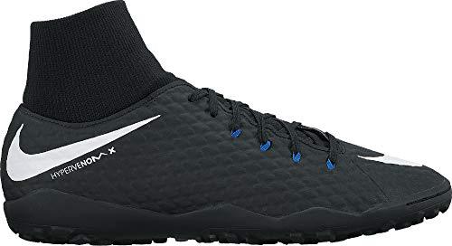 Nike Air Force 1 Hi Retro QS Zapatillas de Balonmano, Negro / Gris frío / Antracita, 47 EU