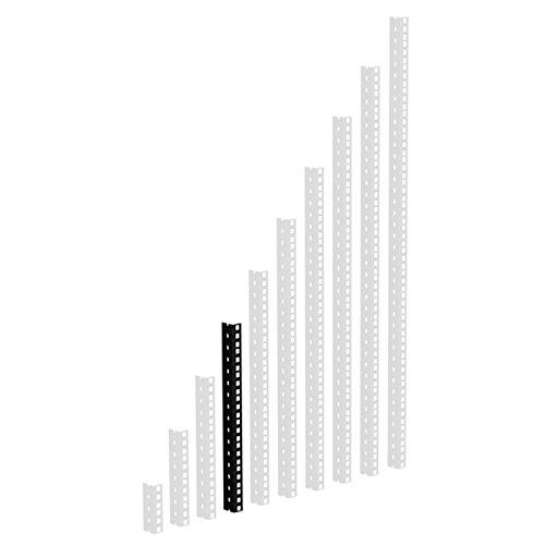 61535B8 Rackschiene, schwarz gestanzte Löcher, 8 HE