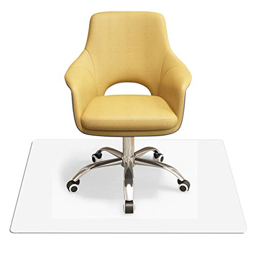 COSTWAY Bodenschutzmatte aus PVC, Schutzmatte transparent, Unterlegmatte zum Bodenschutz, Bürostuhlunterlage 2 Größen zur Wahl (120x150cm)