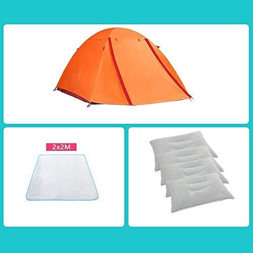 Leilims Persenning Camping Zelte, Outdoor-Ultra-Light verdickte warme Doppelschicht regendicht Aluminiumpfosten Kletter Zelt Zelt (Color : E)