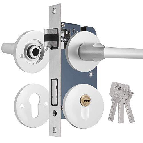 Cerradura silenciosa, Cerradura de puerta de madera interior con aluminio del espacio, conveniente para el dormitorio y la sala de estar