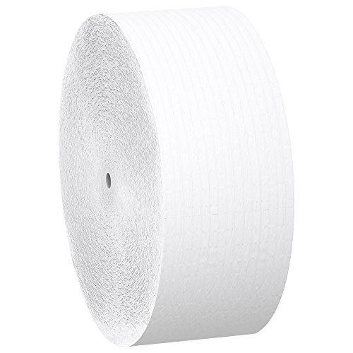 Scott Essential Jumbo Roll JR. Coreless Toilet Paper (07005), 1-PLY, White, 12 Rolls / Case, 2,300' / Roll