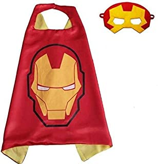 Double sided Kids or adults mini Iron Man comic superhero costume with mask and cape