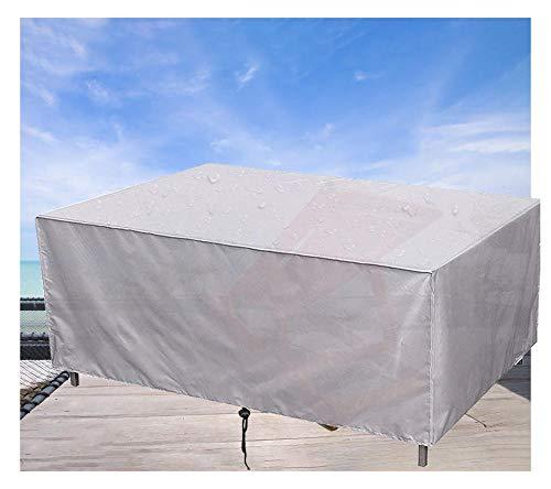 Gartenmöbel Abdeckung,Rechteckig wasserdichte Schutzhülle, für Gartentisch Sitzgruppe Gartenlounge (210D Oxford Gewebe,110x110x85cm,Beige)