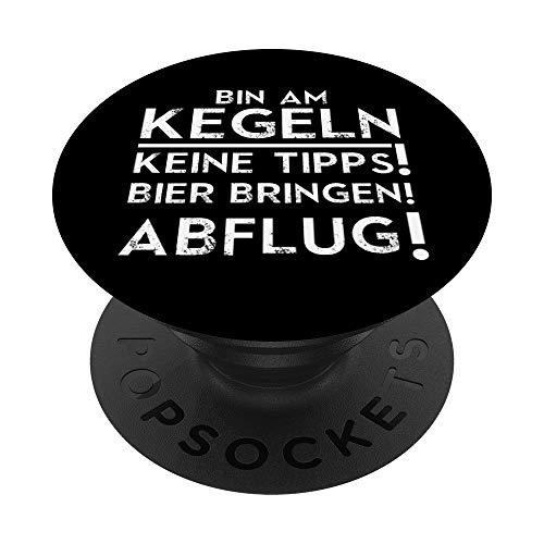 Kegeln Bier Kegelclub Kegler Verein Geschenk - PopSockets Ausziehbarer Sockel und Griff für Smartphones und Tablets