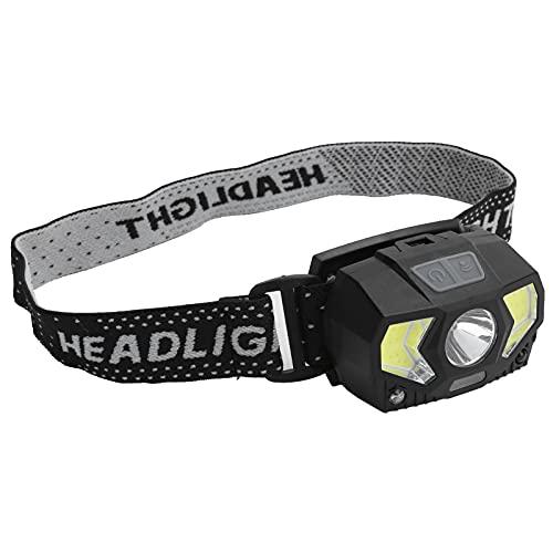 Linterna Frontal Recargable, Linterna Frontal LED Súper Brillante Con Control De Sensor, Luz De Senderismo Con Carga USB XPG + COB, 7 Modos De Iluminación, Para Acampar, Senderismo, Etc.