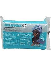 Dog Sponge Esponja jabonosa Champú De Avena para Perros. Paquete de 10 esponjas de un Solo Uso. Apta para Almohadillas y baño Completo