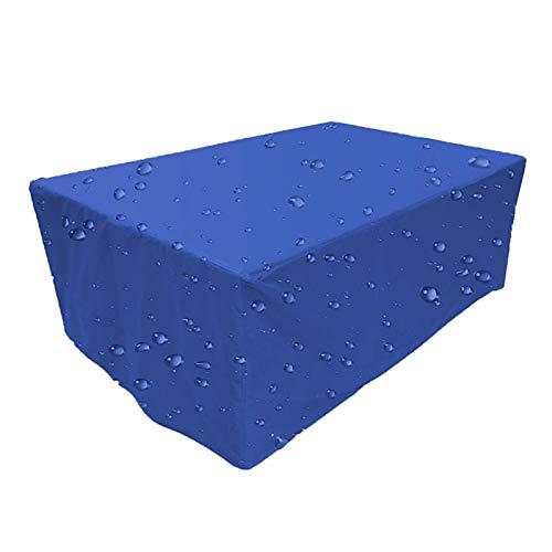ZYCCL Fundas Muebles Rectángulo Resistente Al Viento, a La Lluvia, Al Polvo Y a Los Rayos UV Paño Oxford Funda Protectoras para Muebles De Jardin, Mesa Y Sillas
