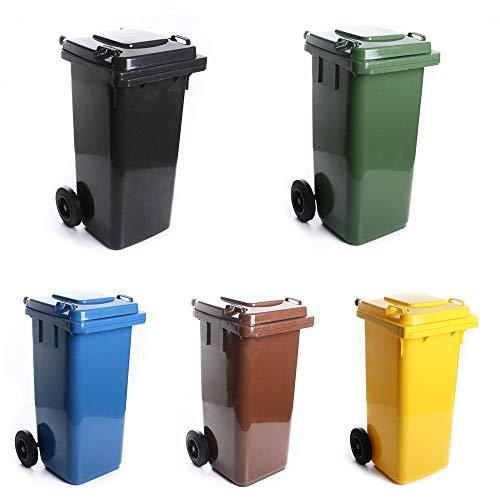 Mülltonne Müllbehälter 120L mit Deckel 2 Rad Behälter Abfalltonne 5 Farben (Gelb)
