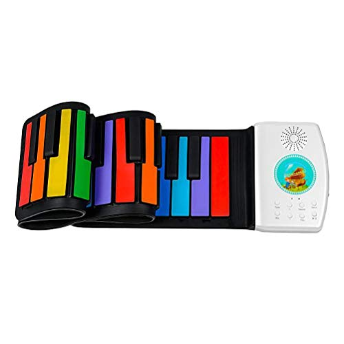49 Tasten Silikon Flexible Hand Roll Up Piano, Soft Portable Elektronische Tastatur Orgel Musik Geschenk, FüR Kinder Student