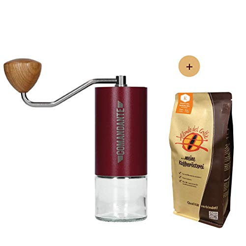 Comandante Handmühle C40 MK3 Nitro Blade Bordeaux Aktionspaket mit 500 gr. Filterkaffee von Mondo del Caffè