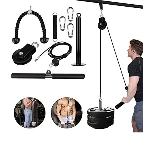 JUBANGLIAN Máquina de Sistema de Cable Polea DIY Fitness Equipo para Antebrazo Músculo Fuerza Entrenamiento Hogar Ejercicio Equipo para Tríceps Pull Down Biceps Curl