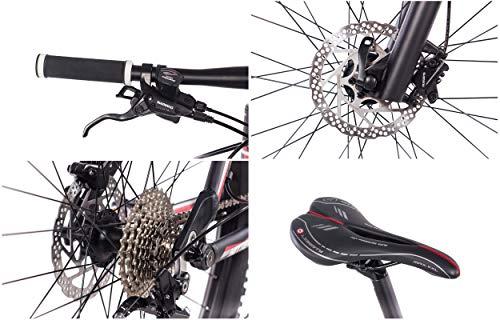 CHRISSON 27,5 Zoll Mountainbike Fully – Hitter FSF schwarz rot – Vollfederung Mountain Bike mit 30 Gang Shimano Deore Kettenschaltung – MTB Fahrrad für Herren und Damen mit Rock Shox Federgabel - 9