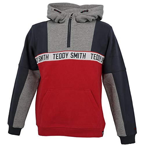Teddy Smith - Neil Ruby Cap SW jr - Sweat Capuche Hooded - Rouge - Taille 16ans